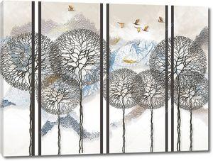 Деревья с круглыми кронами