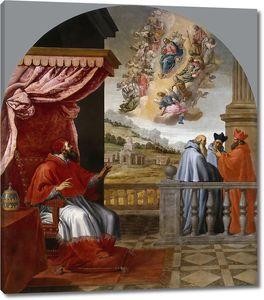 Кардучо Висенте. Видение папы Виктора III