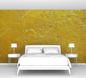 Золотая  окрашенная стена