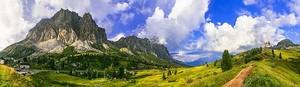 Захватывающие дух пейзаж гор Дамите