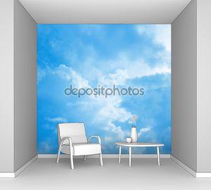 Голубое облачное небо