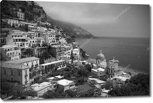 Позитано, Италия, черный и белый