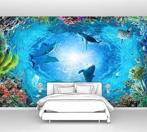 Вид на живописные подводный мир