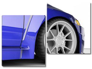 Крупным планом колеса машины