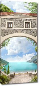 Лестница и арка, ведущие к морю