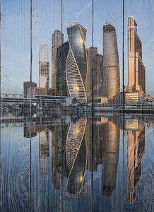 Бизнес центр Москва Сити на рассвете.