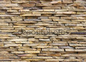 Каменная стена из песчаника