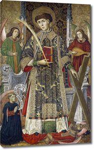 Гинер Томас. Св Винсент, диакон и мученик, с донаторами