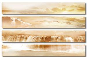 Водопад с гор