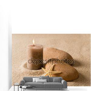 Спа еще характер коричневый Свеча и камни