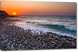 Прекрасный вид на побережье Черного моря