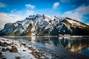 Lake house in Banff National Park