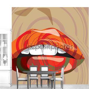 Красивая женщина губы Иллюстрация