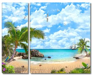 Sea view with blue sky
