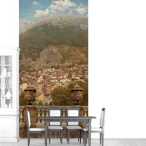 Терраса с видом на прекрасный город