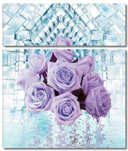 Букет из роз , отражение в воде