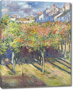 Моне Клод. Липы в Пуасси, 1882