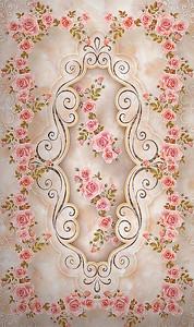 Орнамент из розовых роз