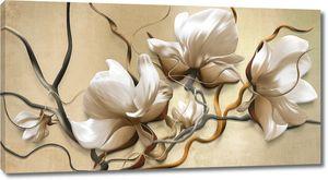 Объемная сакура с волнистыми стеблями