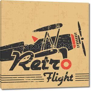 старинный самолет