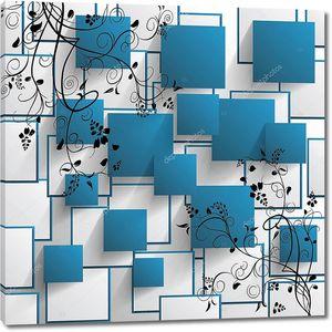 Синие и белые прямоугольники