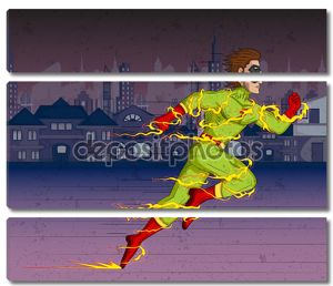 В ретро-стиле комиксов Superhero
