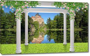 Портик с видом на замок