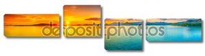 Bright sunset panorama
