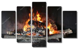 Сжигание древесины в камине