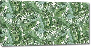 Заросли пальмовых листьев