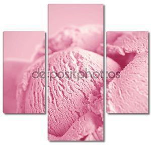 розовое мороженое
