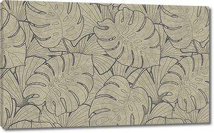 Орнамент из листьев пальмы