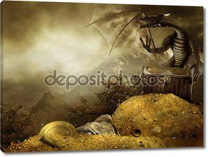 Дракон с кучей золота