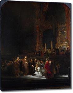 Рембрандт. Христос и грешница