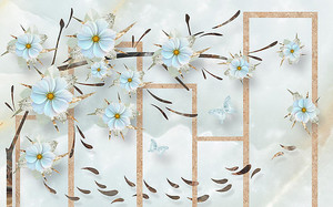 Абстракция из линий и цветов