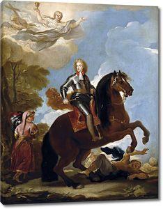Джордано Лука. Карл II, король Испании, верхом