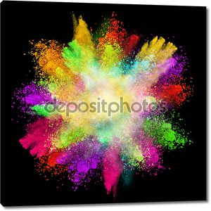 Launched colorful powder