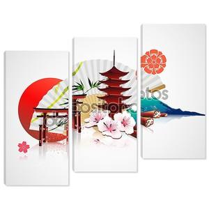 Декоративный традиционный японский фон