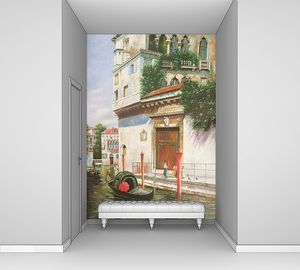 Вид на дома в Венеции