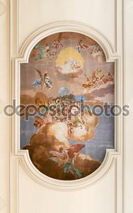 Фрески на потолке церкви Сэйнт Энтони Аббат.