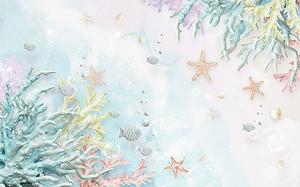 Узор из кораллов и морских звезд