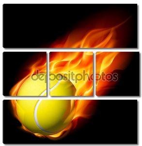 Пылающий теннисный мяч