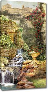 Красивый сад рядом с городом