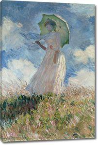 Клод Моне. Женщина с зонтиком, развернувшаяся налево
