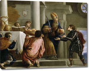 Хуан Антонио де Фриас Эскаланте. Ахимелех передает хлеб и меч Давида первосвященнику