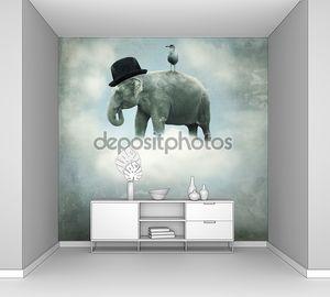 Летающий слон фэнтези