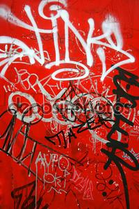 граффити на красный, вертикальные