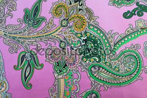 Розовый и зеленый Цветочный орнамент Текстиль