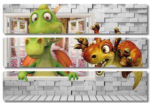 Динозаврики в окошке