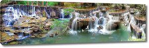 Каменистый широкий водопад